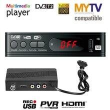 HD 1080p טלוויזיה טיונר Dvb T2 Vga טלוויזיה תיבת Dvb t2 עבור צג מתאם USB2.0 טיונר מקלט לווין מפענח Dvbt2 רוסית ידנית