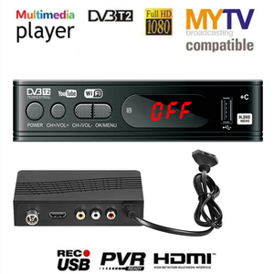 Image 1 - HD 1080p Tv Tuner Dvb T2 Vga TV Box Dvb t2 pour moniteur adaptateur USB2.0 Tuner récepteur Satellite décodeur Dvbt2 russe manuel