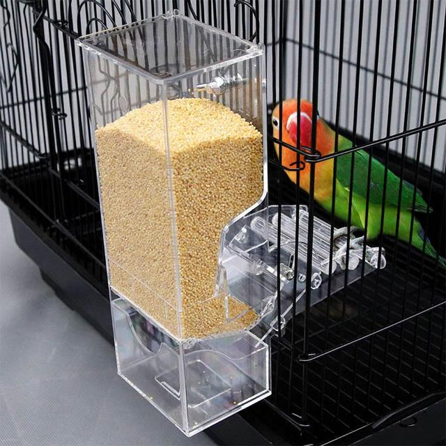 Yfashion Transparent Automatic Feeder for Mini Pet Birds Myna Parrots