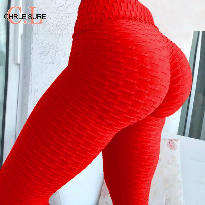 CHRLEISURE Sexy Push Up Leggings Women Fitness Pants High Waist Sport Leggings Anti Cellulite Leggings Workout Black Ladies|Leggings| - AliExpress