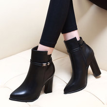 Купить с кэшбэком Hot Fashion Genuine Leather Boots 2018 Casual Ankle Boots Autumn Spring Ladies Boots Classic Large Size Shoes Black CH-A0083