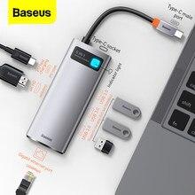 Baseus HUB USB USB 3.0 3 0 Type C De MOYEU pour Macbook Pro Air Surface Pro 7 GO USB Réseau Ethernet HUB 1000 USB-C Diviseur