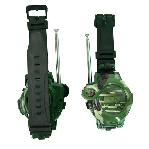 2pcs Walkie Talkies Watches Toys for Kids 7 in 1 Camouflage 2 Way Radios Mini Walky Talky Interphone Clock Children Toy Multan