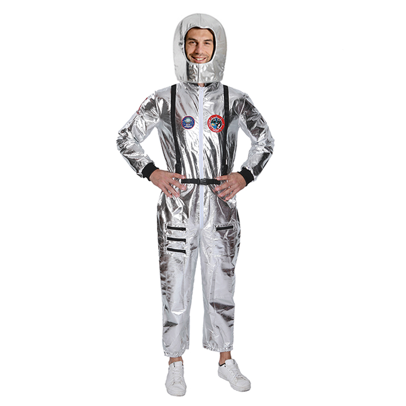 H752103d08837403ab92d49e597252233L - Men Astronaut Alien Spaceman Cosplay Helmet Carnival Adult Women Pilots Outfits Halloween Costume Group Family Matching Clothes