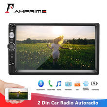 "Amprime 2 DIN Mobil Radio Autoradio 7 ""Multimedia Player Auto Stereo Mirrorlink 2din Cassette Recorder Di Dash Audioradio stereo(China)"