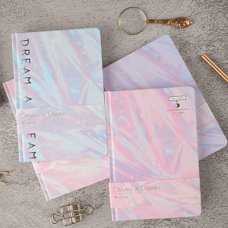 Cute colorful hardcover school subject composition notebooks stationery,fine student blank drawing sketch book,A5,thick
