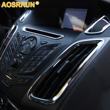 For Ford focus 3 2012 2013 2014 Car Accessories ABS interior Air conditioning outlet decoration Chrome
