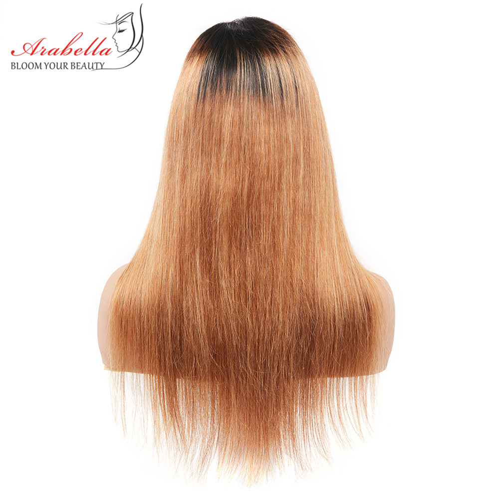 Arabella 1B/27 Straight Hair Lace Front Wig With Baby Hair Pre Plucked  Hair 13*4 Lace Front Wig Colored  Lace Wig 5