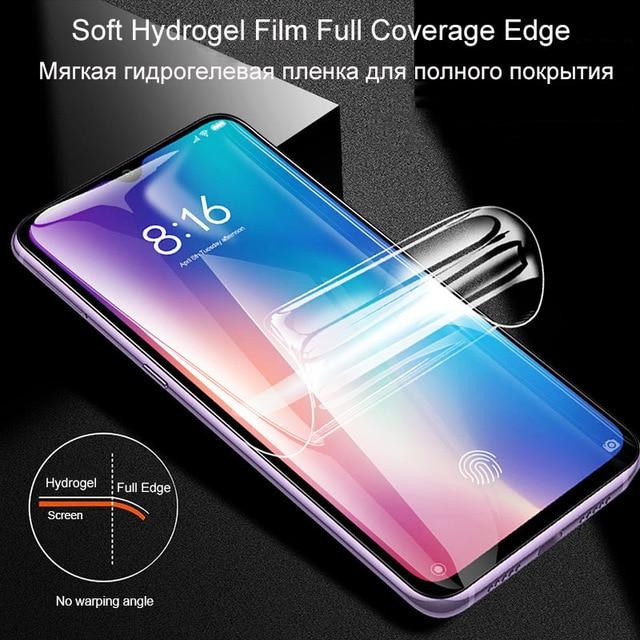 2Pcs Cover Soft Hydrogel Film For Xiaomi Mi 11 Mi 10 Mi 9 9T Pro Mi 8 A3 Screen Protector For Redmi Note 10 9 8 7 K20 K30 Pro 9S 5
