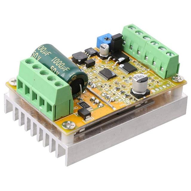Placa de controlador sem escova quente do motor de wsfs 380w 3 fases (não/sem sensor hall) placa de motorista do plc de bldc pwm dc 6.5 50v