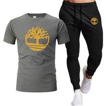 Conjuntos de treino casual masculino dos homens do verão conjuntos de duas peças conjunto t camisa marca roupas de pista masculino sweatsuit ternos esportivos S-2XL