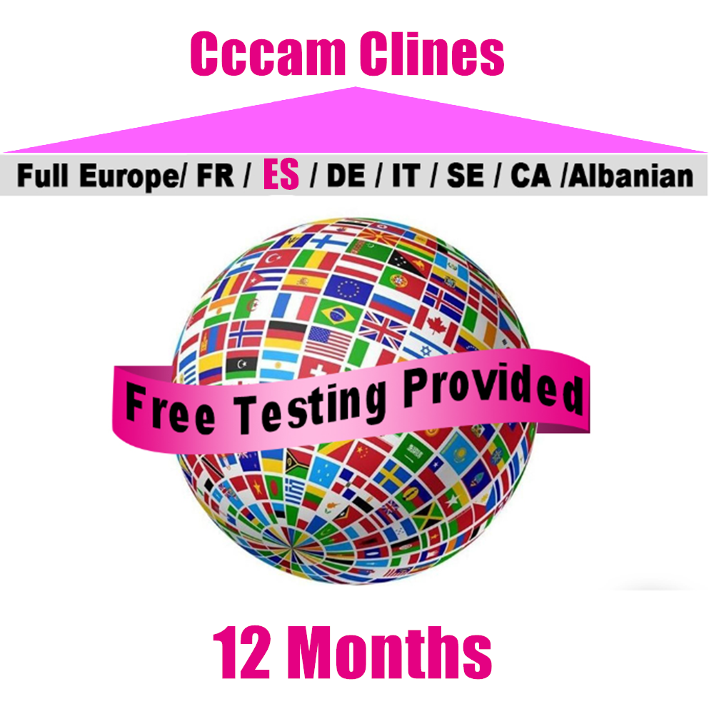 CCCAM Oscamconfig Europe Cline 6 Clines 7 Lines For Spain Uk French Germany Netherland Polsat For Satellte Receiver Decoder CCAM