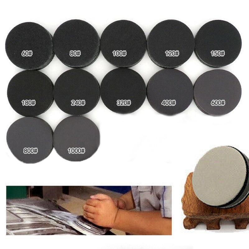 30Pcs Wet & Dry Sanding Paper Disc 3 Inch 75mm Sandpaper 60#-1000# Grits