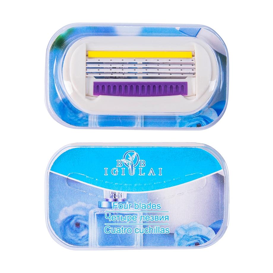 бритвенный станок для женщин rzr iguetta gf4-0052+gf4-0304 + сменные картриджи 9 шт