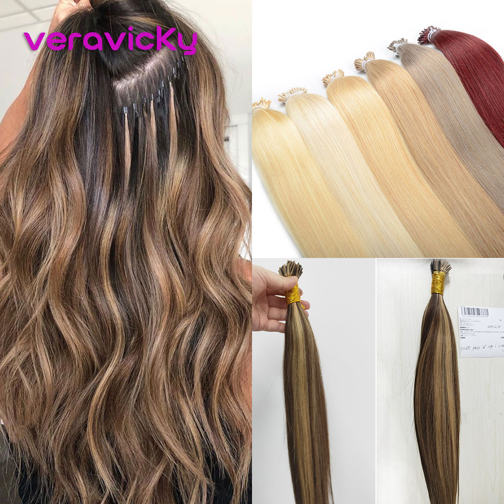 I Tip Keratin Pre Bonded Hair Extensions Machine Remy Straight Human Hair On Capsule Fusion Real Hair Extensions 1.0g/s 100g