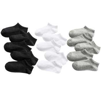 5 Pairs Baby Socks Boys Girls Black White Gray Socks Cotton Soft Newborn Babies Loose Comfortable Sock Kids School Sport Clothes 5pairls lot boys girls pure white socks for children baby cotton soft kids socks loose comfortable toddler black white socks