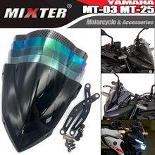 Pare-brise avant de moto, visière de sport, tourisme, déflecteur de vent adapté pour YAMAHA MT25 MT03 2020 2021 MT-25 MT-03