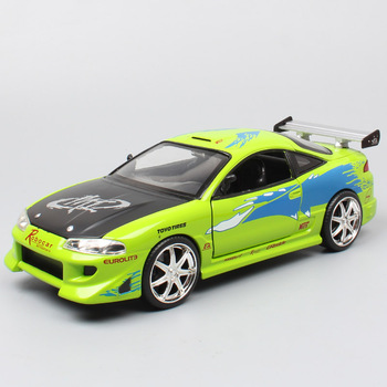 1/24 scale 1995 Mitsubishi Eclipse GTR BRIDE sports car metal Diecasts & Toy Vehicles auto Brian's street race model car of boys image