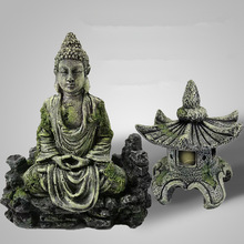2 Style Fish Tank Aquarium Decor Ancient Buddha Lighthouse Statue for Fish Tank Aquarium Ornament Aquarium Accessories