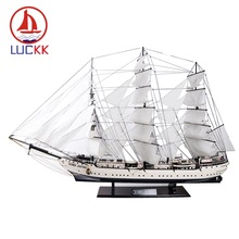LUCKK 130CM Handmade White Finland Swan Wooden Sailboat Model Assembling Classics Building Kits Nautical Ship Figurines Ornament realts classics sailboat model uss constitution section 1794 wooden ship model