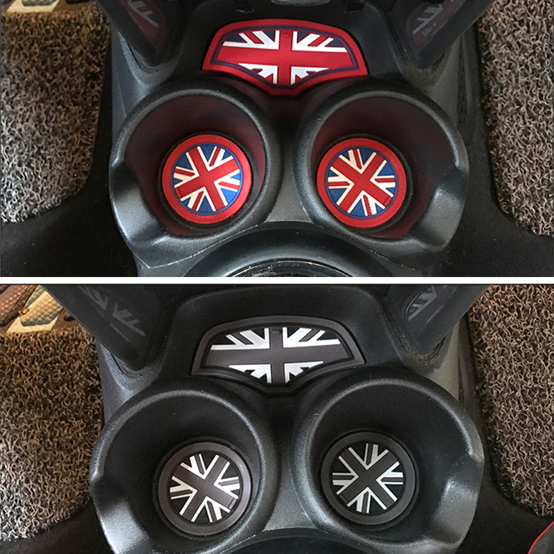 For BMW MINI Cooper S F55 F56 car interior center water cup silicone mat non-slip mat dustproof decorative modeling accessories