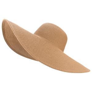 Image 4 - 7.1/18cm Huge Wide Brim Sun Hats Straw Summer Church Wedding Hats for Womens Ladies Floppy Kentucky Derby Party Dressy