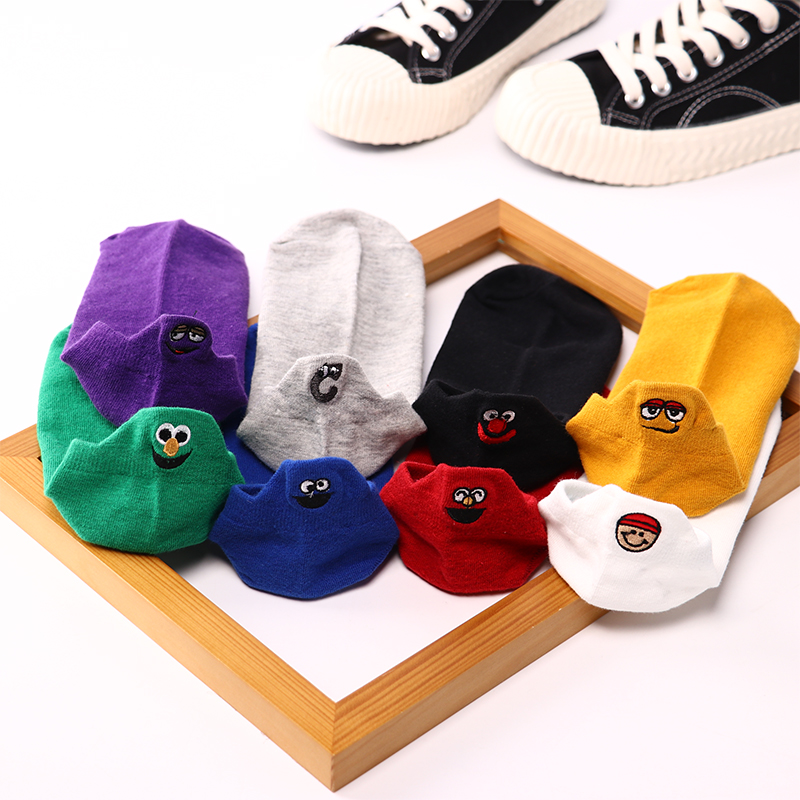 Hot DealsFunny Sock Spring Ankle-Girls Heart Color 4-Pairs Cotton Fashion Woman Cute Casual New