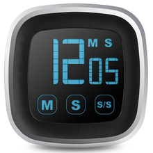 Большой дисплей светодиодной панели кухонный таймер с сенсорным экраном электронный цифровой кухонный кулинарный напоминающий будильник 99 минут подсчет-вниз часы