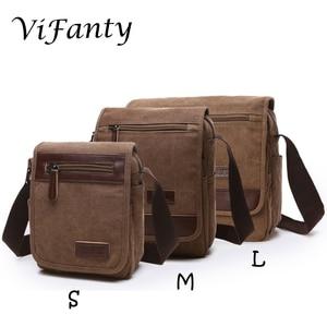 Image 1 - Different size Canvas Messenger Bag School Crossbody Bag Shoulder Bags