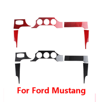 For Ford Mustang Accessories 2015 2016 2017 2018 2019 Carbon Fiber Car Dashboard Instrument Panel Sticker Interior Trim