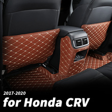 For Honda crv CR-V 2017 2018 2020 car seat anti-kick pad seat back anti-dirty anti-kick protection pad decoration modification a car seat kick mat for lincoln mkz leather seat back protector proof anti dirty interior car accessories protection