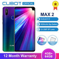 "Cubot Max 2 Android 9,0 19:9 4GB 64GB MT6762 Octa Core Smartphone 6,8 ""de agua 5000mAh cámaras traseras duales 6P lente de 4G LTE teléfono"