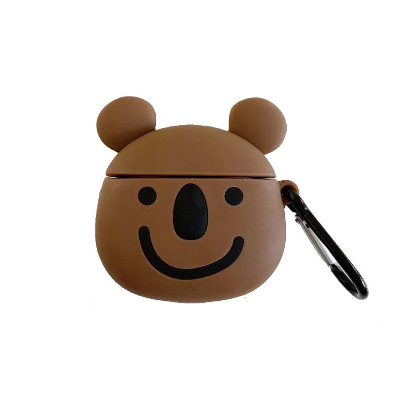 Cute Koala Soft Silicone Protective Case Shockproof Cover Skin Protector with Carabiner for Airpods 1 2 Charging Box Accessories in Earphone Accessories from Consumer Electronics