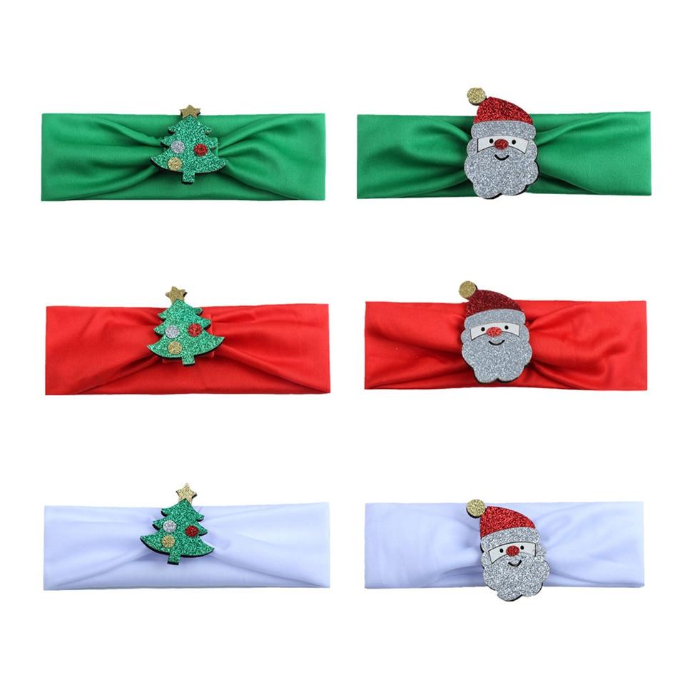 Christmas Decoration Headband Christmas Tree Santa Claus Turban Children Baby Girls Christmas Party Decoration Supplies 2020 in Christmas Headbands from Home Garden