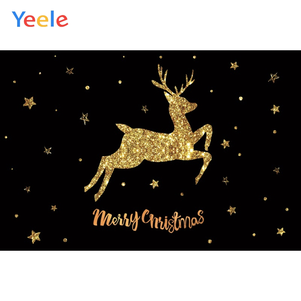 Yeele Christmas Photocall Gold Jump Elk Simple Star Photography Backdrops Personalized Photographic Backgrounds For Photo Studio in Background from Consumer Electronics