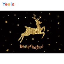 Yeele Christmas Photocall Gold Jump Elk Simple Star Photography Backdrops Personalized Photographic Backgrounds For Photo Studio