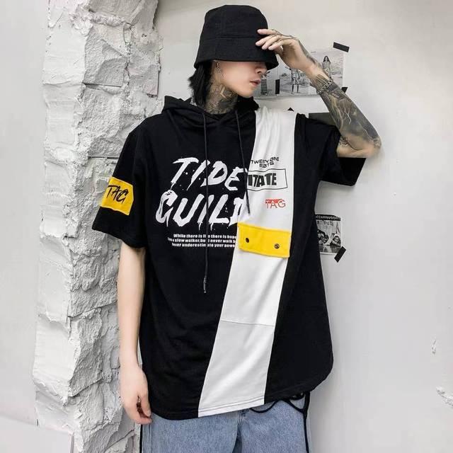 Sudadera con capucha de dibujos animados para hombre, ropa para parte superior masculina, estilo Harajuku, Punk, informal, de otoño, Coreano 2
