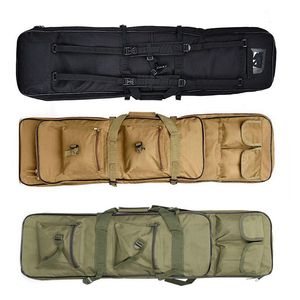 Image 1 - 81cm 94cm 118cm 헤비 듀티 전술 소총 총 가방 총 캐리 보호 케이스 나일론 어깨 홀스터 야외 스포츠 가방