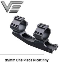 Optique vectorielle 35mm Style Offset tactique en porte à faux court une pièce Picatinny montage double anneaux avec Rail Picatinny supérieur