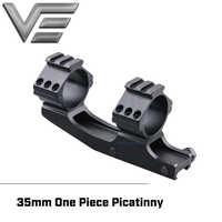 Vector Optics 35mm Tactical Offset Style Cantilever Short One Piece Picatinny Mount Dual Rings with Top Picatinny Rail