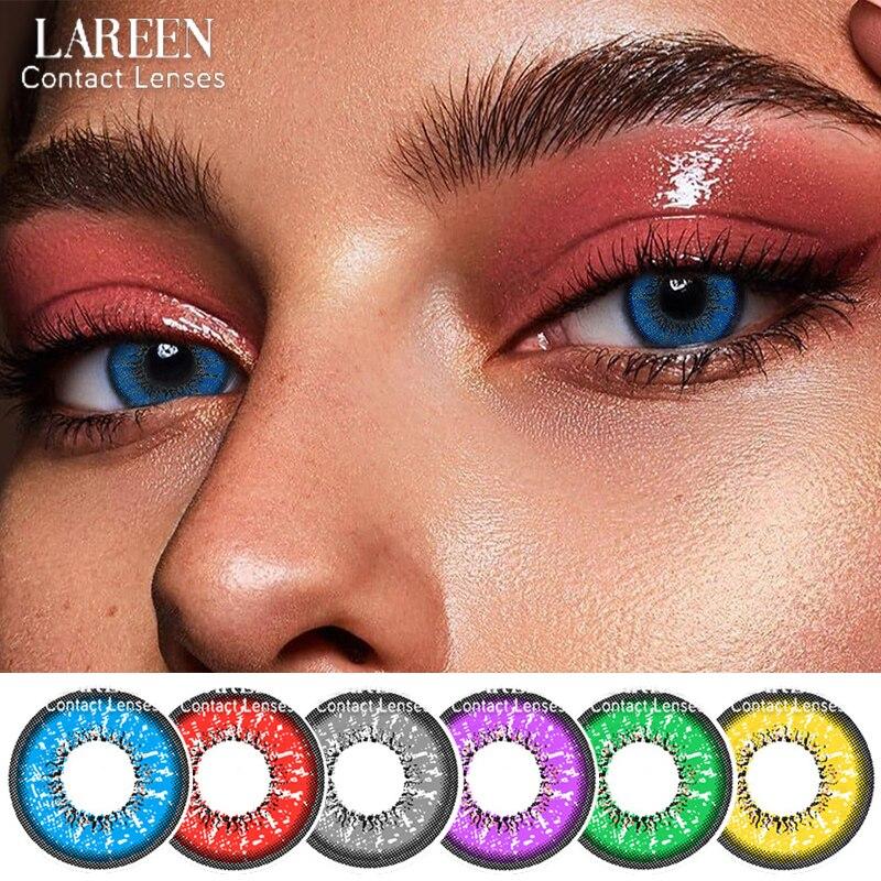 2 шт./пара Цвет ed контактные линзы для глаз Любовь слова серии Blue для контактных линз Цвет косметический красивый ученик Lentes де, прежде чем не...