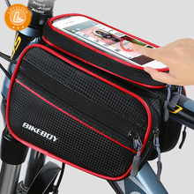 LOVELION Bicycle Bag Waterproof Front Bike Cycling 6.2 inch Mobile Phone Top Tube Bags Mountain Accessories