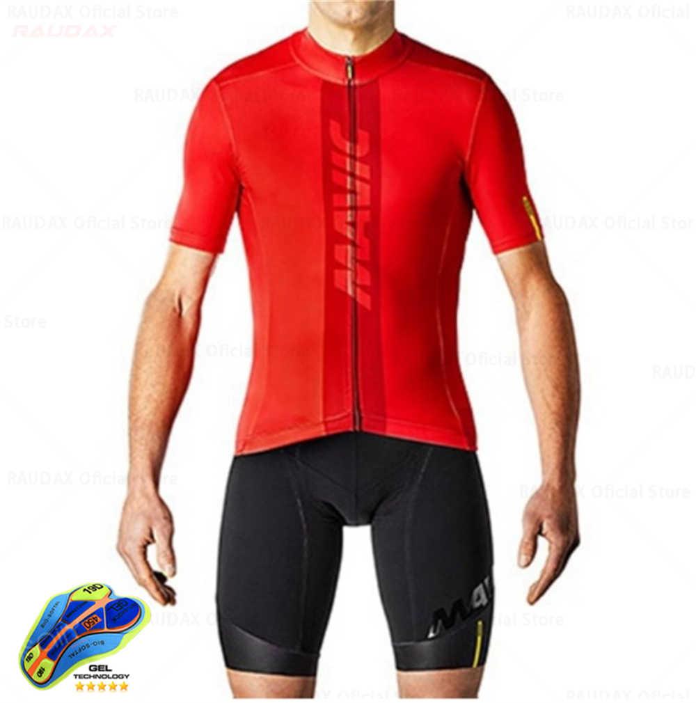 Bersepeda Jersey 2020 Tim Pro Mavic Ropa Ciclismo Hombre Musim Panas Pendek Lengan Bersepeda Jersey Pakaian Triathlon Bib Celana Pendek Suit