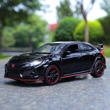Coches de juguete y Diecast exquisitos de alta simulación, estilismo para MINIAUTO, Honda Civic Tipo R 1:32, aleación fundida, los mejores regalos