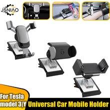 Auto Telefon Halter Für Tesla Modell 3 Universal Halterung Modell Y 2021 Auto Mobile Acessories Air Steckdose Montieren Auto Halter telefon