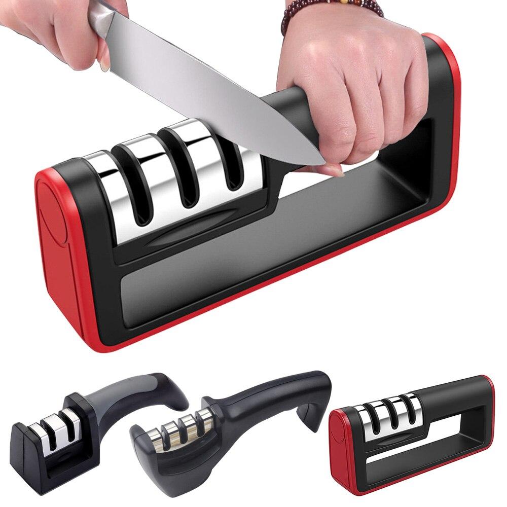 Новинка; Лидер продаж Кухня Быстрый Профессиональный Кухня 3 этапа точилка Ножи шлифовальная машина Non-Slip силиконовой резины дропшиппинг