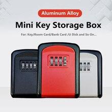 Mini Wall Mount Key Storage Secret Box Organizer 4 Digit Combination Password Security Code Lock Home Key Safe Box caja fuerte
