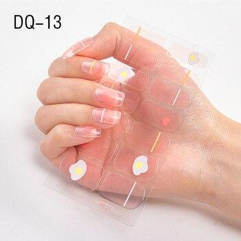 14pcs/sheet Glitter Gradient Color Nail Stickers Nail Wraps Full Cover Nail Polish Sticker DIY Self-Adhesive Nail Art Decoration 114