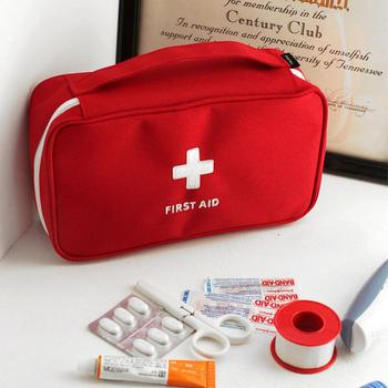 Outdoor Travel First Aid kit Mini Car First Aid kit bag Home Small Medical box Emergency Survival kit Storage Size 23*13*7.5 cm image