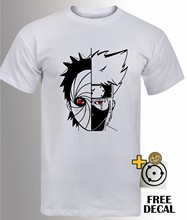 Kakashi VS Obito T เสื้อ Madara Sharingan Uchiha Naruto Anime คอสเพลย์ TOP Mens(China)